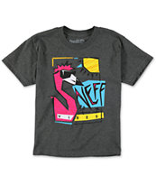 Neff Boys Vibey Charcoal T-Shirt