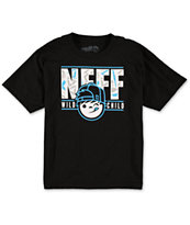 Neff Boys Wild Kenni Black & Blue Tee Shirt