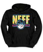 Neff Boys Wild Kenni Black & Yellow Pullover Hoodie