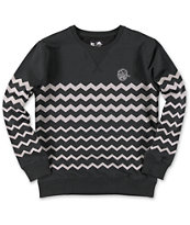 Neff Boys Ziggy Black Crew Neck Sweatshirt