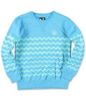 Neff Boys Ziggy Turquoise Crew Neck Sweatshirt