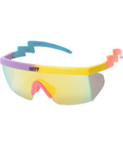 Neff Brodie Purple, Yellow, & Blue Sunglasses