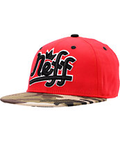 Neff Brooks Red & Camo Snapback Hat