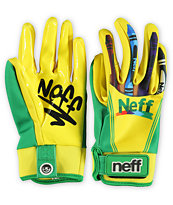 Neff Chameleon Crayons Yellow 2013 Pipe Snowboard Gloves