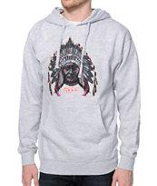 Neff Chiefn Grey Pullover Hoodie