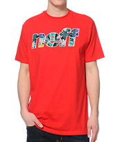 Neff Corpi Filled Red Tee Shirt