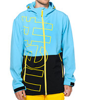 Neff Daily 10k Cyan & Black Softshell Snowboard Jacket