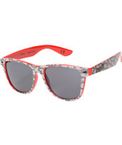 Neff Daily Grey Crackle & Red Print Sunglasses