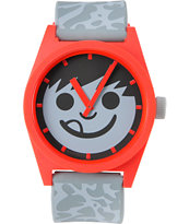 Neff Daily Krinkle Red & Grey Analog Watch