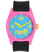 Neff Daily Pieced Corpo Pink, Black, & Blue Analog Watch