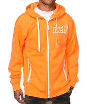 Neff Daily Shredder Orange Tech Fleece Jacket