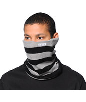 Neff Daily Stripe Grey & Black Neck Gaitor