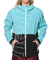 Neff Daily Teal & Black 10K Softshell Snowboard Jacket