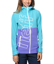 Neff Daily Teal Girls 10K Softshell Snowboard Jacket 2014