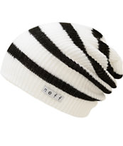 Neff Daily White & Black Beanie