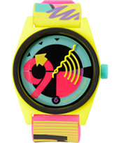 Neff Daily Wild Loco Yellow Analog Watch