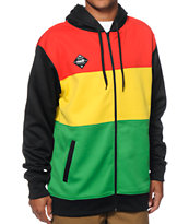 Neff Divider Shredder Rasta Tech Fleece Jacket