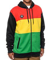 Neff Divider Shredder Rasta Tech Fleece Jacket