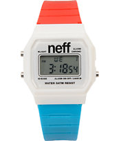 Neff Flava Red, White & Blue Digital Watch