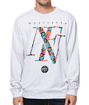 Neff Floral Grey Crew Neck Sweatshirt