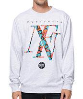 Neff Floral Grey Crew Neck Sweatshirt