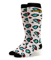 Neff Girls Animal White, Blue & Red Snowboard Socks