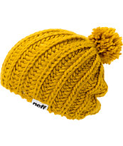 Neff Girls Curse Gold Pom Beanie
