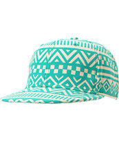 Neff Girls Inca Green & White Tribal Print Snapback Hat