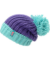 Neff Girls Sofia Purple & Blue Fold Beanie