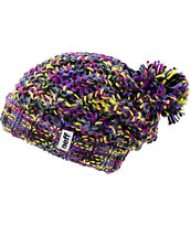 Neff Girls Space Purple & Blue Pom Fold Beanie