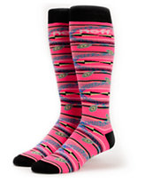 Neff Girls Tribal Pink Snowboard Socks