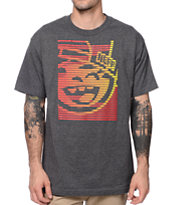 Neff Glitcher Charcoal Grey T-Shirt