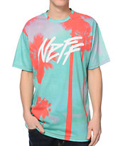 Neff Jetstream Green Sublimated Tee Shirt