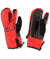 Neff Lobster Red Snowboard Mittens
