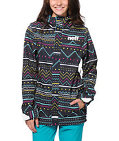 Neff Lush Black 10K Women's Softshell Snowboard Jacket 2015