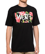 Neff Mishap Black & Floral Print T-Shirt