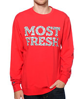 Neff Most Fresh Red Crew Neck Sweatshirt