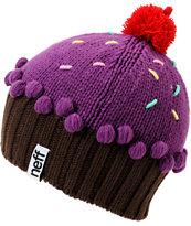 Neff Neon Purple Cupcake Beanie