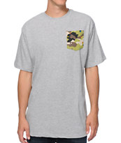 Neff Nifty Grey Camo Pocket Tee Shirt