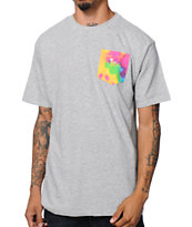 Neff Nifty Grey Tie Dye Pocket Tee Shirt