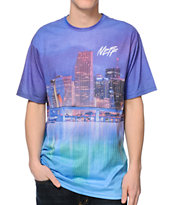 Neff Nightlife Purple Sublimated Tee Shirt