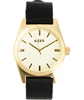 Neff Nightly Gold & Black Analog Watch