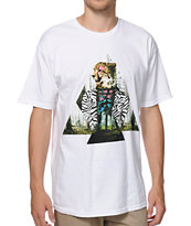 Neff Pretty Kitty White Tee Shirt