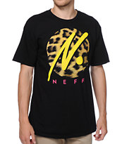 Neff Run Wild Black Tee Shirt