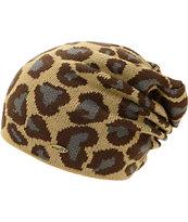 Neff Ryder Leopard Print Beanie
