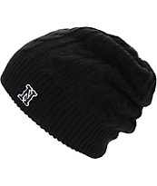 Neff Sarah Embroidered N Black Beanie