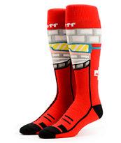 Neff Ski Patrol Red Snowboard Socks