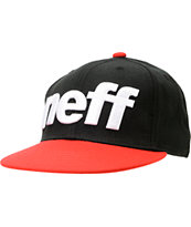Neff Sport Black & Red Snappback Hat