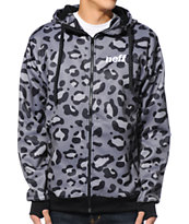 Neff Spotty Shredder Black Tech Fleece Jacket