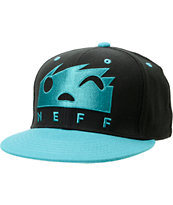 Neff Square Black & Teal Snapback Hat
